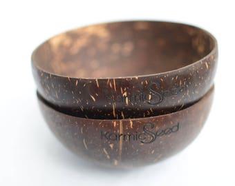 Set of 2 Handmade Coconut Bowls