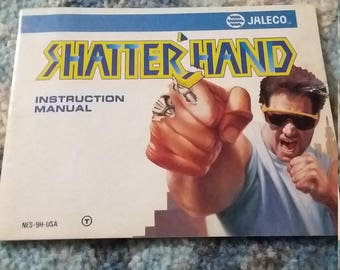 Shatter Hand NES instruction manual