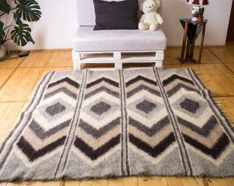 Area Rug Wool Rug Scandinavian Rug Organic Rug Modern Wool Rug Wool Area Rug  Rug Wool