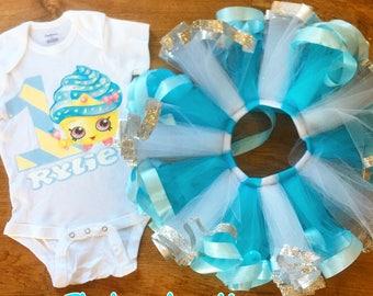 shopkins cupcake queen ribbon trimmed tutu set