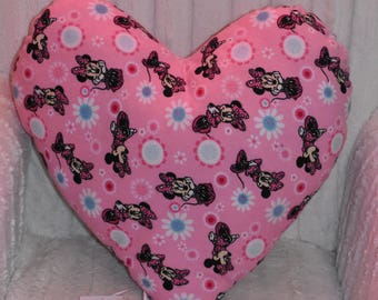 Large Minnie mouse heart shaped pillow