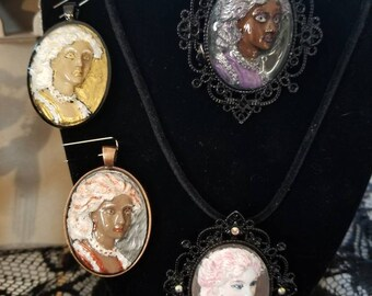 Rocco, Glow, hand painted cameo