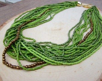 Gorgeous Green Beaded Necklace