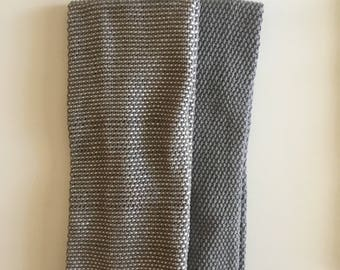 Gray and White & Gray Hand Towel Duo Cotton Collection