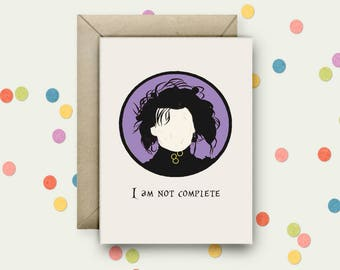Edward Scissorhands Pop Art and Quote A6 Blank Greeting Card with Envelope