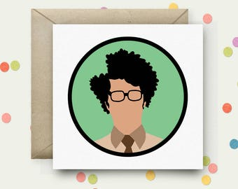 The IT Crowd Square Pop Art Card & Envelope