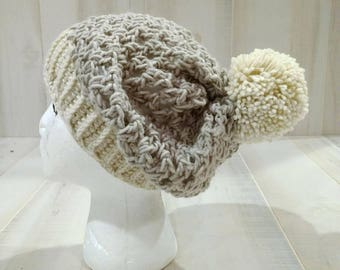 Child Youth Slouchy Crocheted Hat