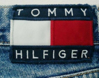 Rare Vintage Tommy Hilfiger Jeans Big Flag made In USA | Size 31 x 34 | Tommy Jeans