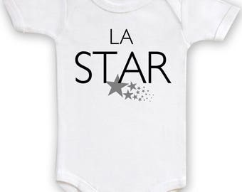"Humorous ""Star"" Bodysuit. Baby boy or girl Bodysuit"