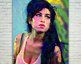 Amy Winehouse - Amy Winehouse Poster,Amy Winehouse West Art,Amy Winehouse Print,Amy Winehouse Poster,Amy Winehouse Merch,Amy Winehouse Wall