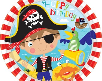 Pirate Party,Little Pirate Plates