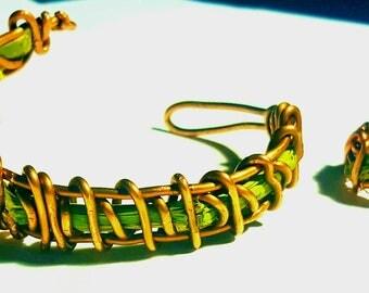 ABRACADABRUH bamboo bracelet and ring set