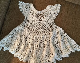 Baby openwork lace dress