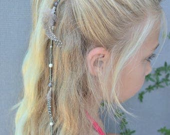 Gray and white elephant hair jewelry