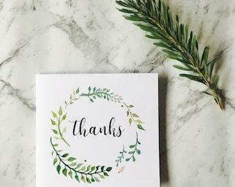 Card 'Thanks' inside blank