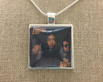 The Fuges album cover photo pendant necklace/keychain.The Fuges-the score album pendant.The fuges jewelry.The fuges necklace.hip hop jewelry