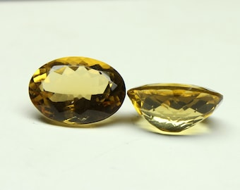 Amazing Natural Beer Quartz 2 PCs Size- 13x18x8.5 mm Shape- Oval  Faceted Jewellery Making Pair Gemstone
