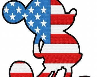 Patriotic Mickey Mouse embroidery design
