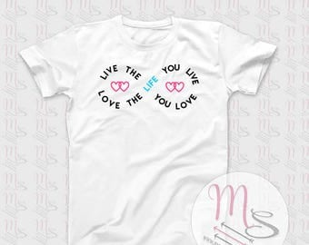 Affinity T Shirt,  Love, life, Girl, Female, Woman, TShirt, Top, hearts