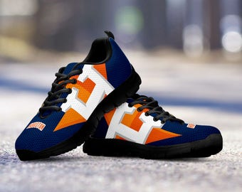 Houston Astros Baseball Fan Custom Running Black Shoes/Sneakers/Trainers - Ladies + Mens Sizes fan, collector, gift