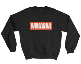 WAKANDA Sweatshirt Black Panther Marvel Parody inspired Logo