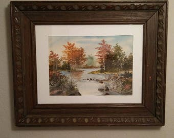 Original American Landscape Watercolor Painting Artist Signed Eric Brater (1896-1989)