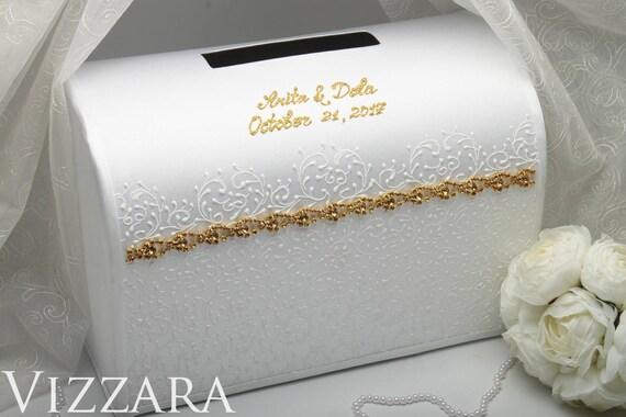 Wedding Ideas Box For Envelopes Card Gold White