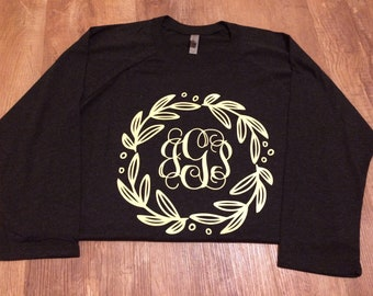 Monogram Wreath Raglan