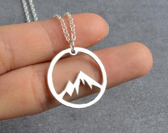 Mountains Are Calling Necklace *FREE SHIPPING WORLDWIDE* Mountain Pendant, Wanderlust Necklace, Outdoor Necklace, Mountain Charm