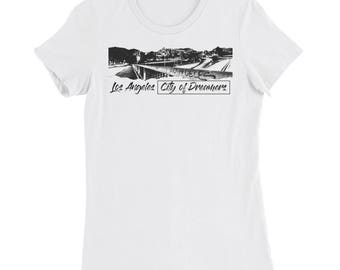 "Women's ""Los Angeles City of Dreamers"" Slim Fit T-Shirt"