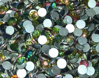 ss16 (4mm) Glass Crystal Rhinestones - VOLCANO (rainbow) - Flatback - 144 pcs - 1 GROSS  - bling - Rhinestones - crafts - embellishmen