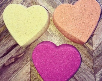 Valentines Day heart bath bombs