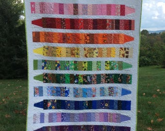 colorful #Child  Crayon Quilt