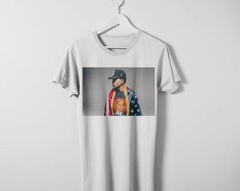 Chance the Rapper t-shirt with King Obama Tshirt. Available in men's and women's sizes. Printed on a comfy cotton Bella Canvas Tee.