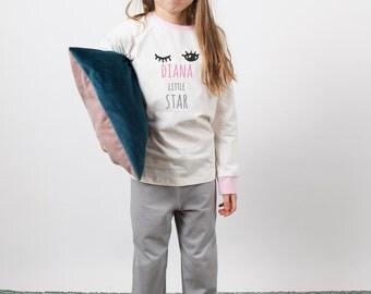 Girls pajamas Girls pink pajamas Girls sleepwear Tricot nightwear Pajamas party Girls pajama pants Pajamas set Summer pajamas 100% Cotton