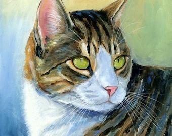 Cat Original Acrylic Painting