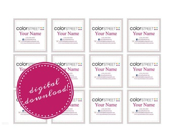 Color Street Stylist Labels, Contact Information, Stylist Sticker