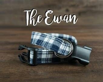 The Ewan - Fabric Dog Collar - Adjustable Collar - Custom Fabric