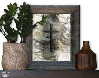 Christian Cross, Religious Wall Art, Religious Art, Spiritual Art, Christian Home Decor, Christian Wall Decor, Religious Decor