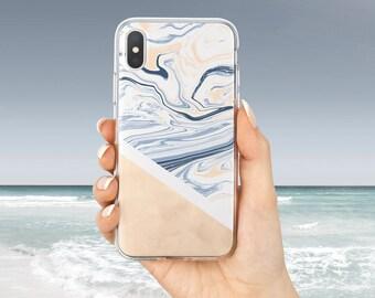 Blue Marble iPhone Case, iPhone 8 Marble Case,iPhone X Marble Case, iPhone 7 Marble Case,iPhone 6 Marble Case, Plus Models