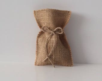 Wedding favour bags . Burlap bags . Hessian bags . Party favour bags . 10 hessian bags .
