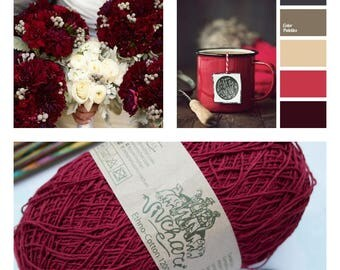 Burgundy yarn Eco yarn Cotton yarn Linen yarn Summer yarn Crochet yarn Wine premium yarn Cotton linen yarn Premium yarn Baby yarn Lace yarn