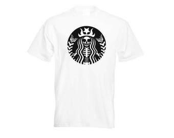 Starbucks Coffee T shirt, Funny Starbucks Skeleton Men Woman Boy Girl Kids T shirt gift, Coffee Lover T shirt, boyfriend T shirt gift