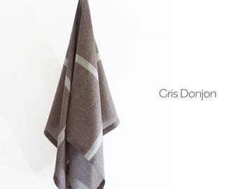 PLAID écharpe en étamine de LAINE & SOIE  - Throws, Scarves in wool and silk