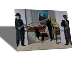 Yellow BUS-Quadro-Canvas print canvas-Rene Magritte-the threatened assassin