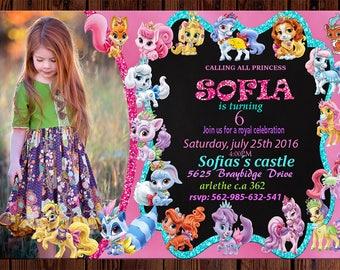 Palace Pets Invitation-Palace Pets Birthday Invitation-Palace Pets Party-Palace Pets Printable