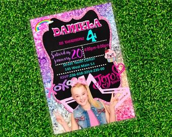 Jojo Siwa Invitation-Jojo Siwa Birthday Invitation-Jojo Siwa Party-Jojo Siwa Invite-Printable