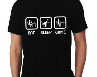 Gamer T-Shirt Eat Sleep Game Men's T-Shirt