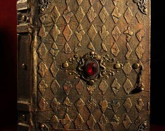 Notebook, treasures of Smaug,dragon,notebook handmade,200 sheets,blank journal,diary,artist journal, Erebor, dwarves, hobbit,fantasy,tolkien