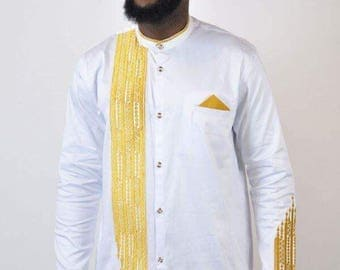 White Dashiki Design